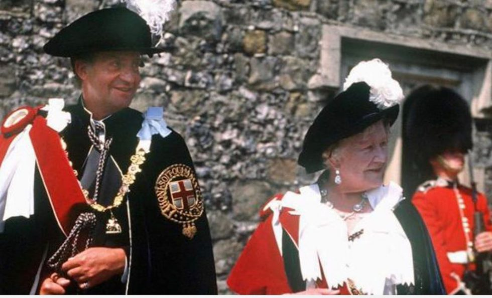 Juan Carlos I Elizabeth II Orden de la Jarretera (1)