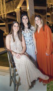 Beatrice Lukac, Micaela Arregui y Arianna Pardo.