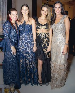 Emely Alcorta, Denisse Dickson, Alicia Hamman y Antonella Lau.