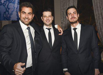 Felipe Llona, Aurelio del Solar y Carlos Cisneros.