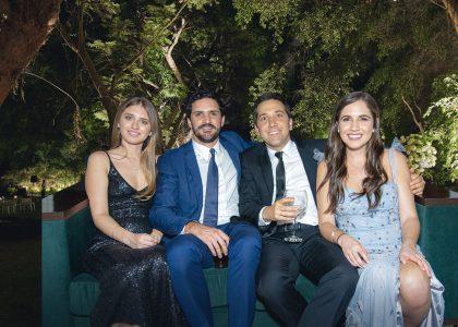 Gracia Picasso, Andrés Mufarech, Sergio Graña y Valeria de Souza Ferreira, en el matrimonio de Gabriela Ibárcena.