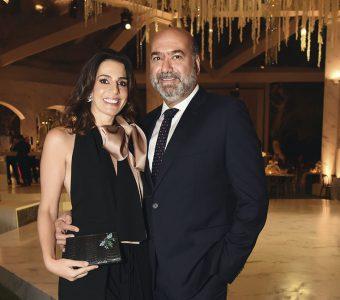 Karen Mitre y Gabriel Abusada, en el matrimonio de Gabriela Ibárcena.