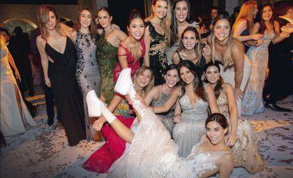 Gabriela y sus amigas, en el matrimonio de Gabriela Ibárcena.