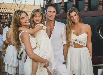 Alessia, Valentina, Lucho y Ariana Rovegno.