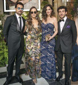 Roberto Urbina, María Elisa Camargo, María Luisa Flores y Juan Riveros Stephanie Cayo y Chad Campbell matrimonio