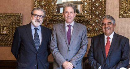 Jorge Baca, Luis Valdivieso y AlfredoThorne