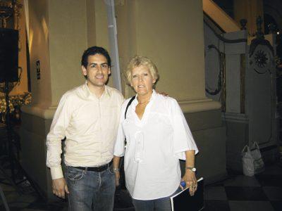 Juan Diego y Teresa Álvarez Calderón de Ferrero, integrante del Coro Nacional.