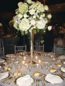 Vista de las mesas que se dispusieron para los 400 invitados