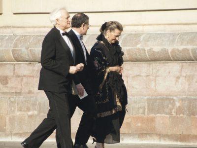 Max Strauss, Jonathan Friend y Sissy Strauss, en el matrimonio de Juan Diego Florez
