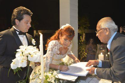 Se acondicionó un ambiente especial para la ceremonia civil.
