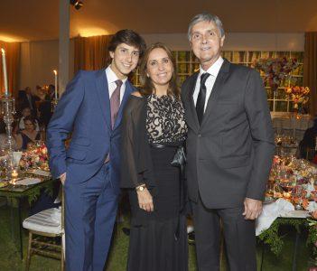 Andrés Roca Rey, Mercedes Valdez y Fernando Roca Rey.