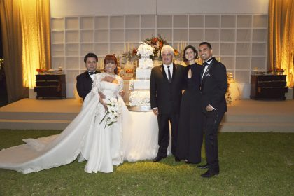 Alfredo Zambrano, Magaly Medina, Felipe Ossio, Melanie Ramsey y Carlos Andrés Luna