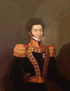 Juan Bautista Eléspuru, Gran Mariscal del Perú. Pintura de José Gil de Castro, 1831