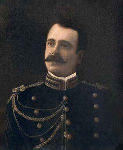 My. Eulogio Eléspuru Deustua en uniforme de la Casa Militar, 1909.