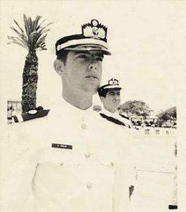 Cadete Jaime Grau. Escuela Naval, 1972.