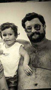 Enrique Blondet con su hijo Sebastián Blondet Bellido.
