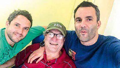 Con Enrique y Sebastián Blondet.