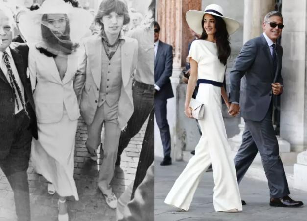 Bianca Jagger y Amal Clooney