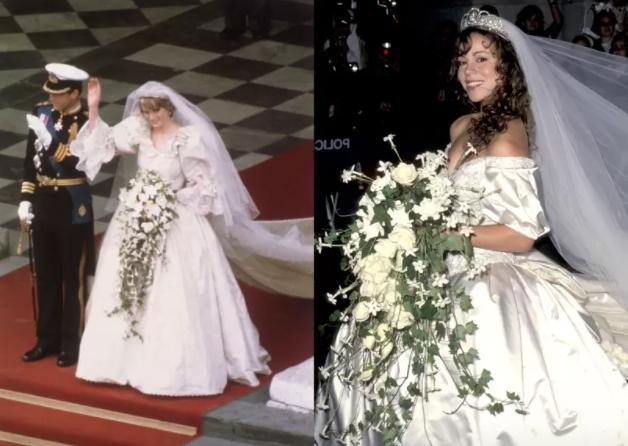 la princesa Diana y Maria Carey