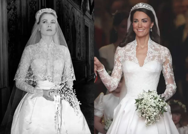 Vestidos de novia: Grace Kelly y Kate Middleton