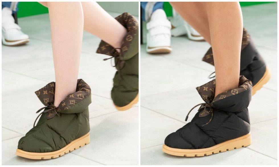 Louis Vuitton puffy boot