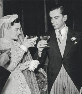 El día de su boda con Ana María Álvarez Calderón.