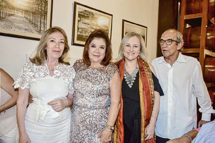 Ana María Rasmussen, Lala Ferrero, Rosario Dulanto y Germán Costa.