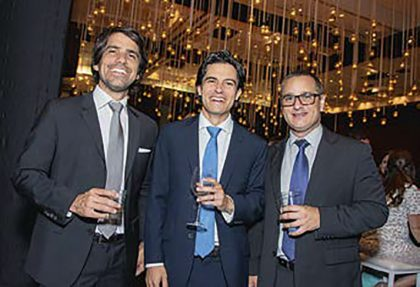 Alfonso Valega, Juan Diego Banon y Octavio Cabero.