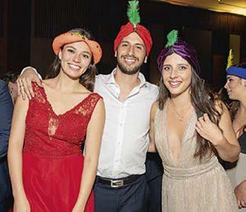 Camila Zapata, Andrés López y Nicole Pita.