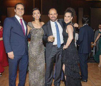 Fernando Garay, Carol y Ely Zaidan y Nicole Simon