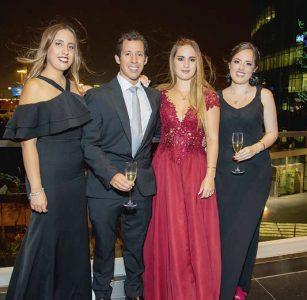 María Belén Torrejón, Diego Chávez, Thais Esteves y María Fernanda Davis.