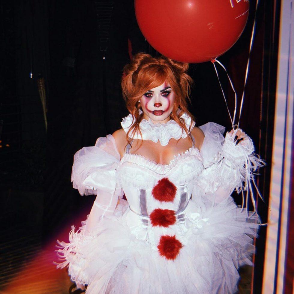 """Demi Lovato como el malvado payaso de """"It"""", Pennywise."""
