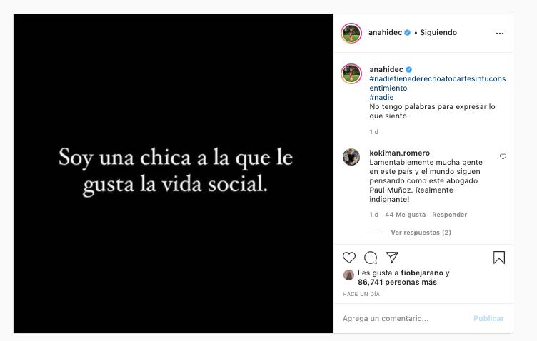 Anahí de Cárdenas: Soy una chica a la que le gusta la vida social
