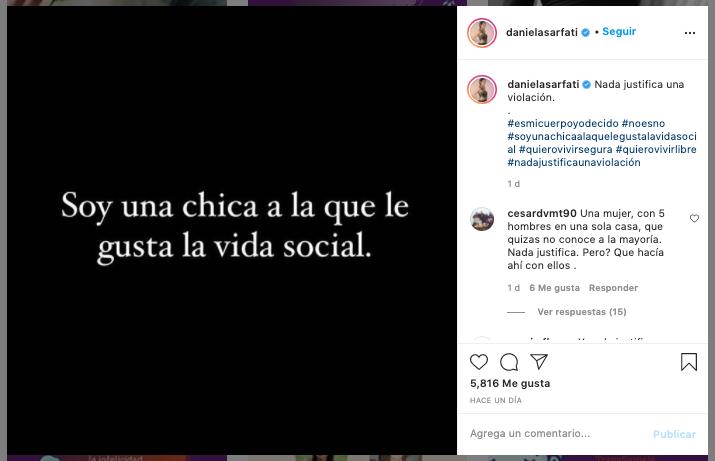 Daniela Sarfati: Soy una chica a la que le gusta la vida social