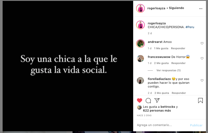 Roger Loayza: CHICA/CHICO/PERSONA