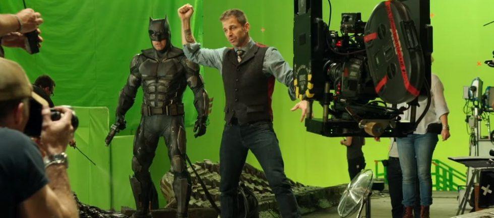Zack Snyder en el ser de rodaje de The Justice League.