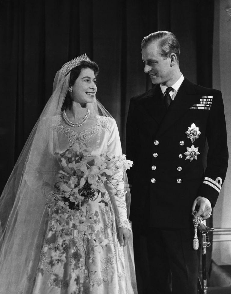 reina Elizabeth II y el duque de Edimburgo matrimonio