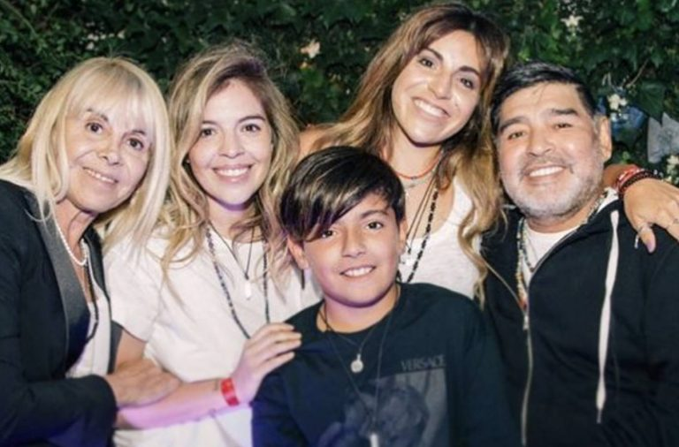 Diego Maradona familia