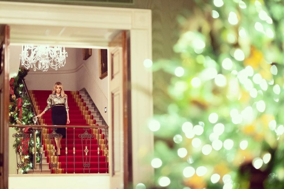 Melania Trump decorado navideño Casa Blanca 1