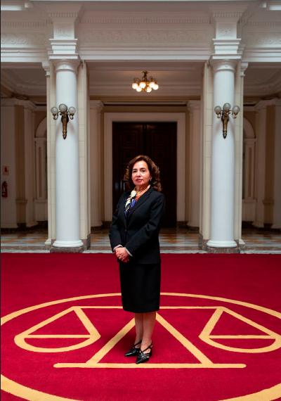 Jueza Barrios, presidenta del PJ