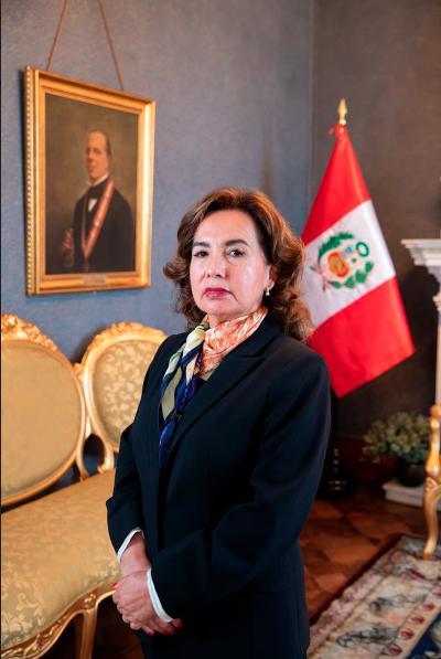 Elvia Barrios, presidenta del Poder Judicial
