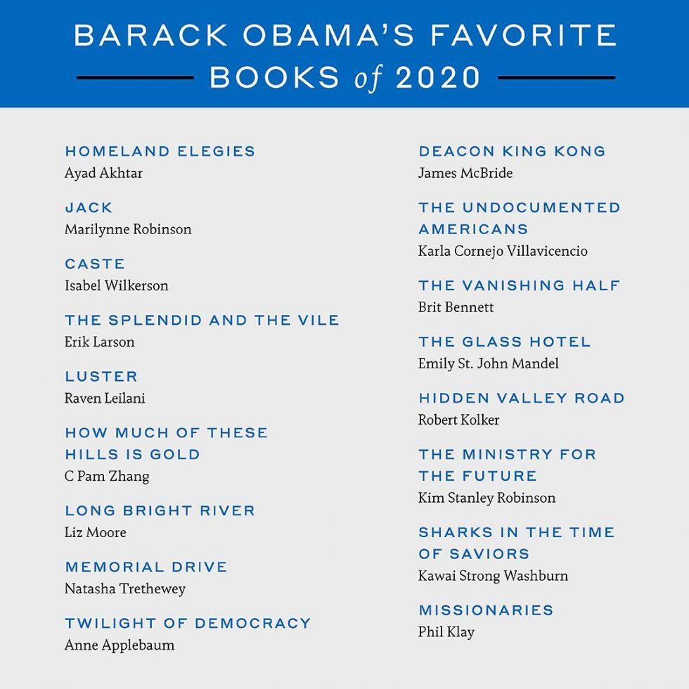 Barack Obama películas, series y libros favoritos del 2020 1