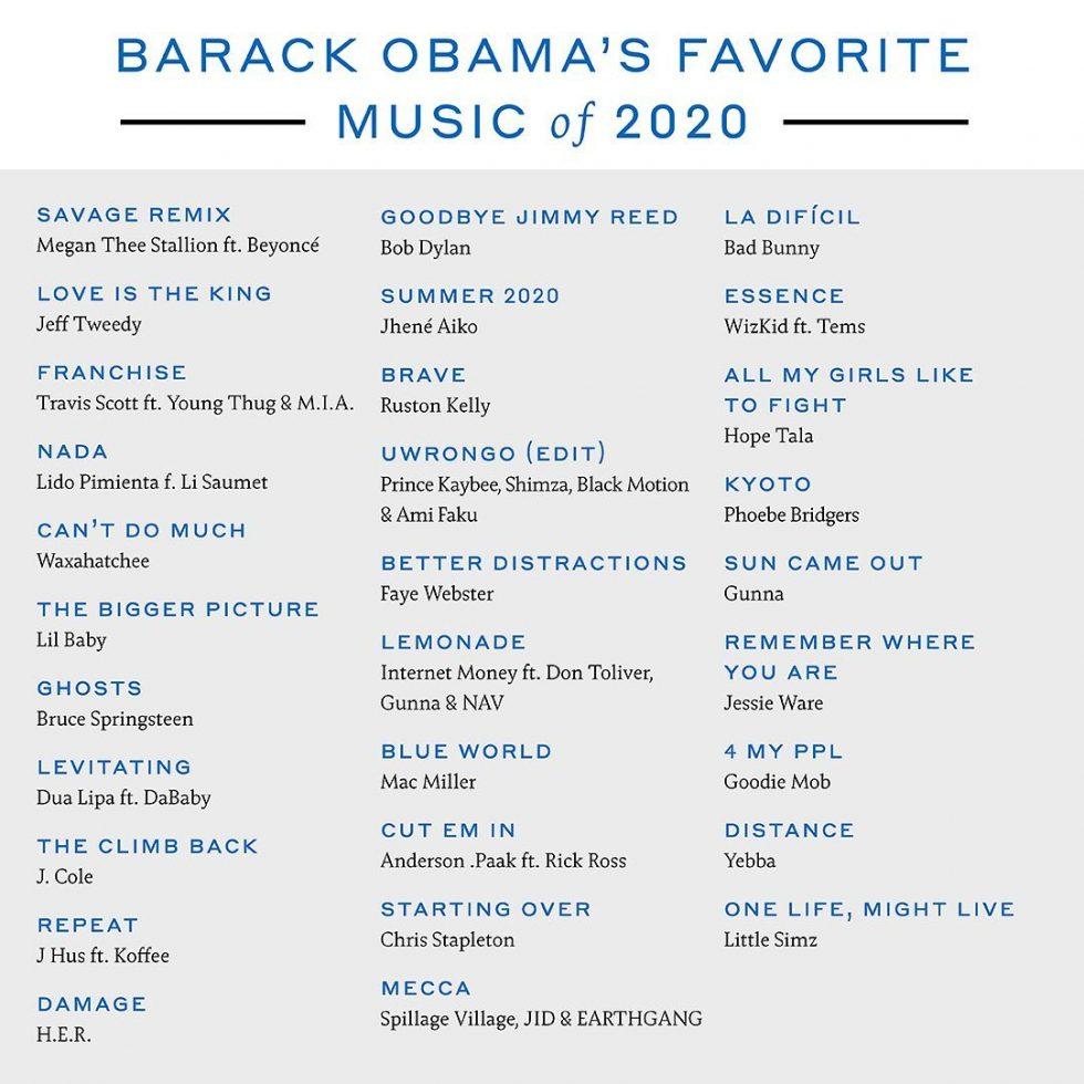 Barack Obama películas, series y libros favoritos del 2020 3