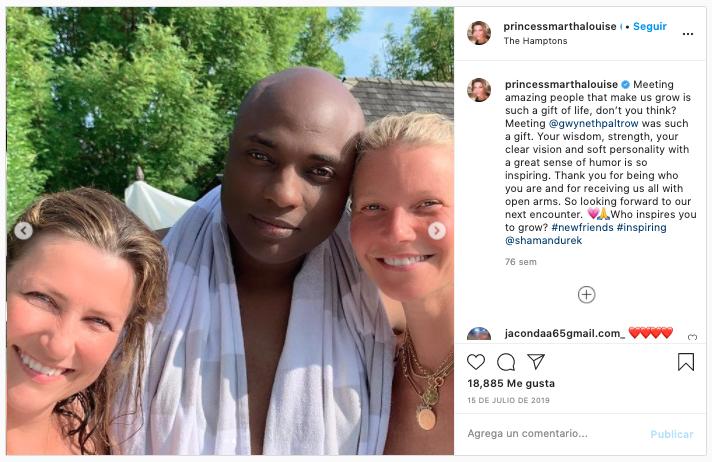 Shaman (Chamán) Durek y Marta Luisa de Noruega