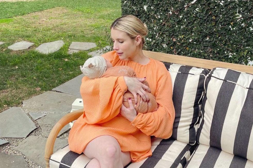 Emma Roberts (actriz) y su hijo Rhodes