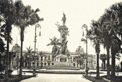 Plaza Bolognesi a inicios del siglo XX. La recuperación de sus valores paisajísticos debe considerarse en cumplimiento de la normativa local y las recomendaciones de la Unesco.