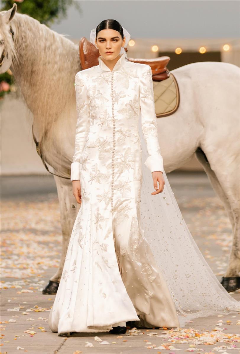 Vestido de novia Chanel colección primavera-verano 2021