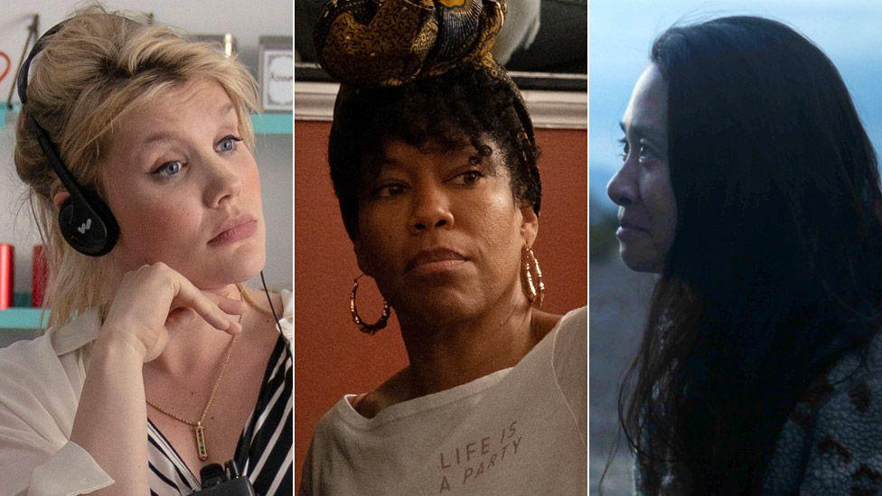 De izquierda a derecha: Emerald Fennell, Regina King y Chloe Zhao nominadas al premio de mejor director