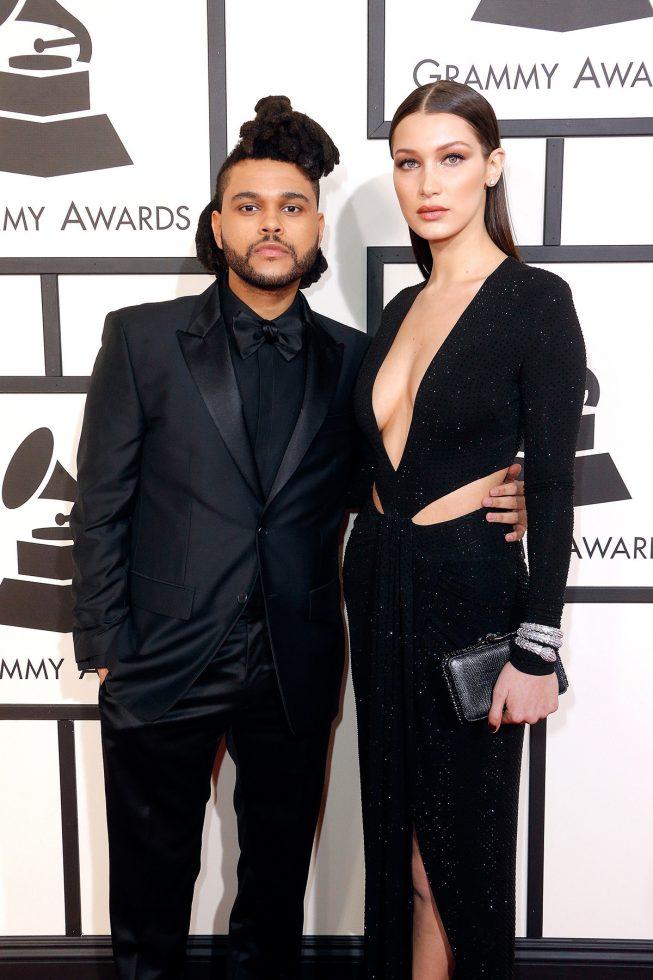 Bella Hadid y Abel en los Grammy Awards (2016)