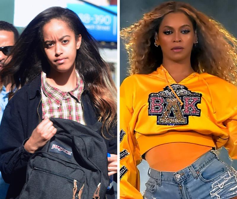 Malia y Beyonce